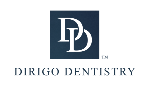 2017-10-07 - Dirigo Dentistry Logo - Type C - Blue Text - Medium - TM